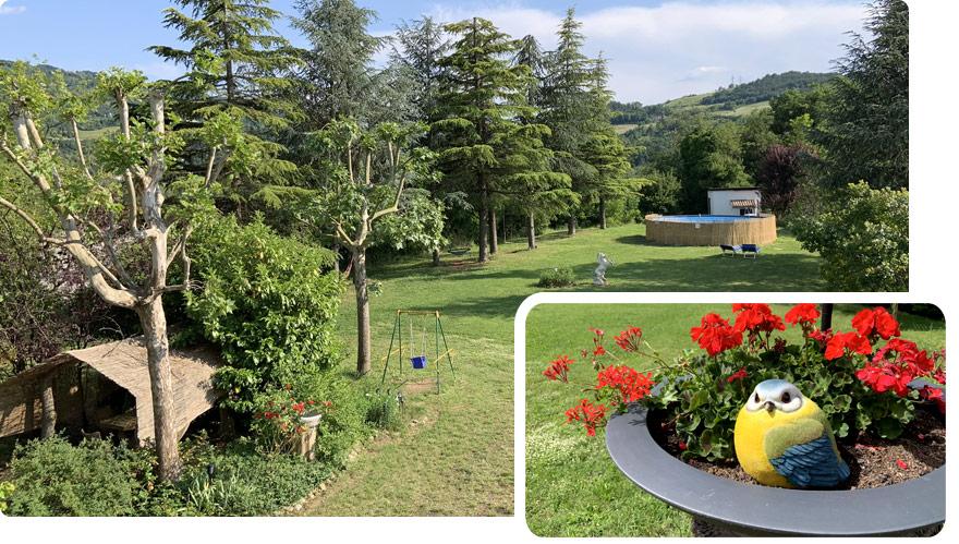 www.ilgiardinoincantato.it casa vacanza tra Bologna e Firenze; allevamento pappagalli addestrati